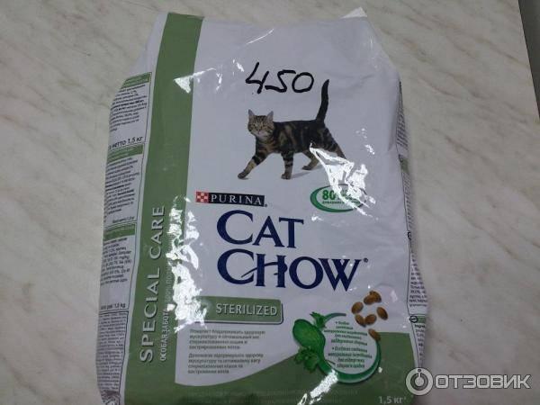 Кэт чау - корм для кошек: состав, как правильно применять