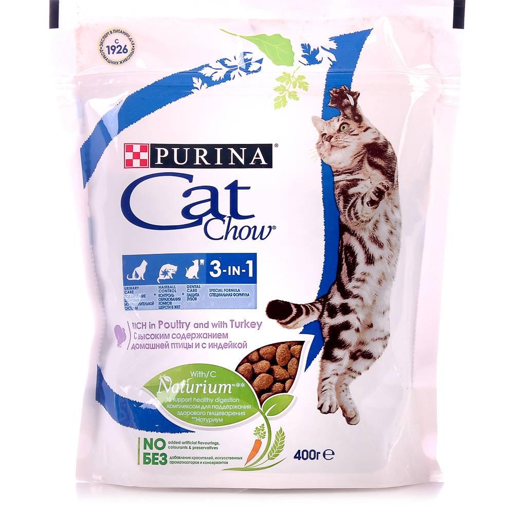 Обзор кормов «кэт чау» для кошек: от обычных до лечебных
