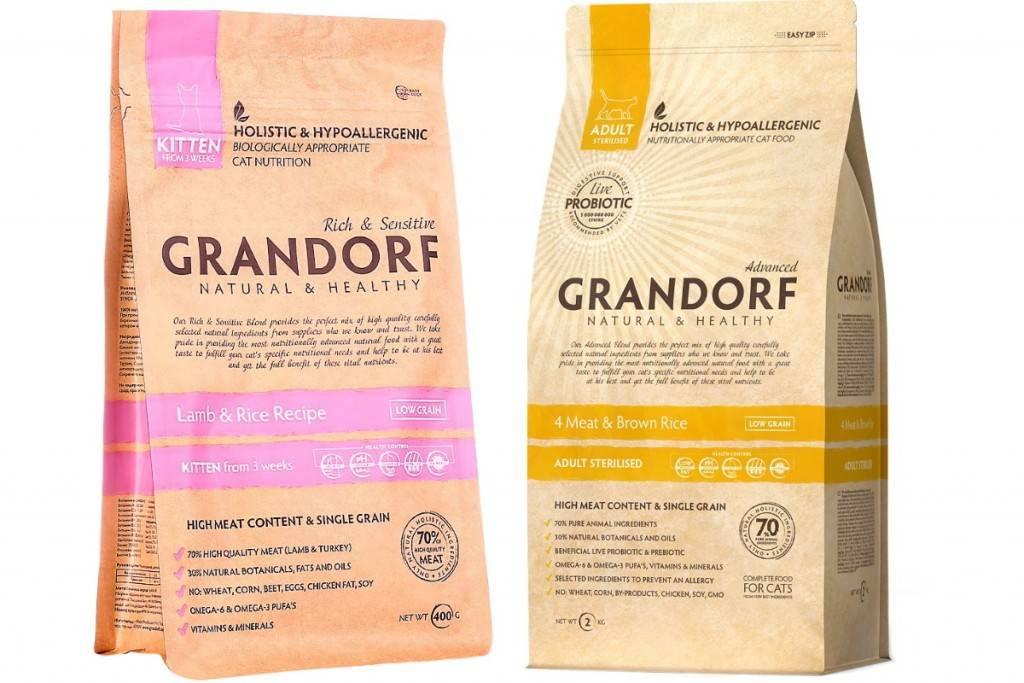 """Корм """"грандин"""" для кошек и котят: состав, плюсы и минусы сухого и влажного продукта"""