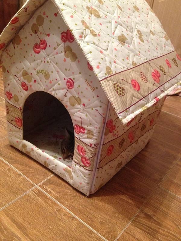 Домик для кошки своими руками (70 фото) - простая пошаговая инструкция