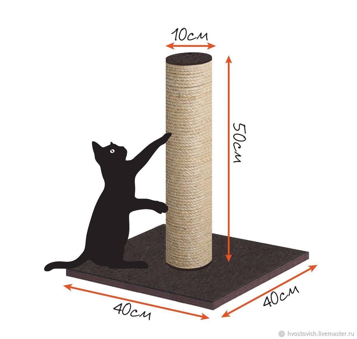 ➤ как сделать когтеточку для кошки своими руками мастер-класс, пошаговая инструкция   мы строители ✔1