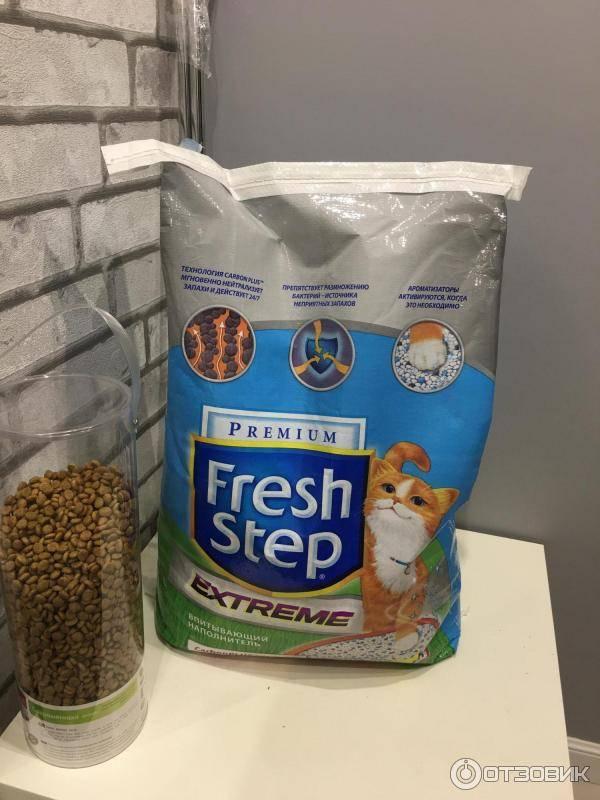 Наполнитель для кошачьего туалета Fresh Step: основные свойства и разновидности
