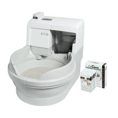 Автоматический туалет для кошек: самоубирающийся лоток-унитаз