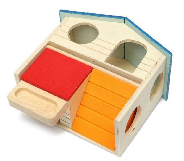Домик для хомяка своими руками (45 фото): как сделать дом из картона и из пластиковых бутылок? особенности самодельных домиков из дерева, кокоса и бумаги