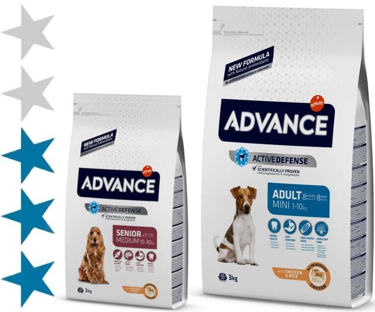 Корм для собак адванс (advance): отзывы, состав, цена
