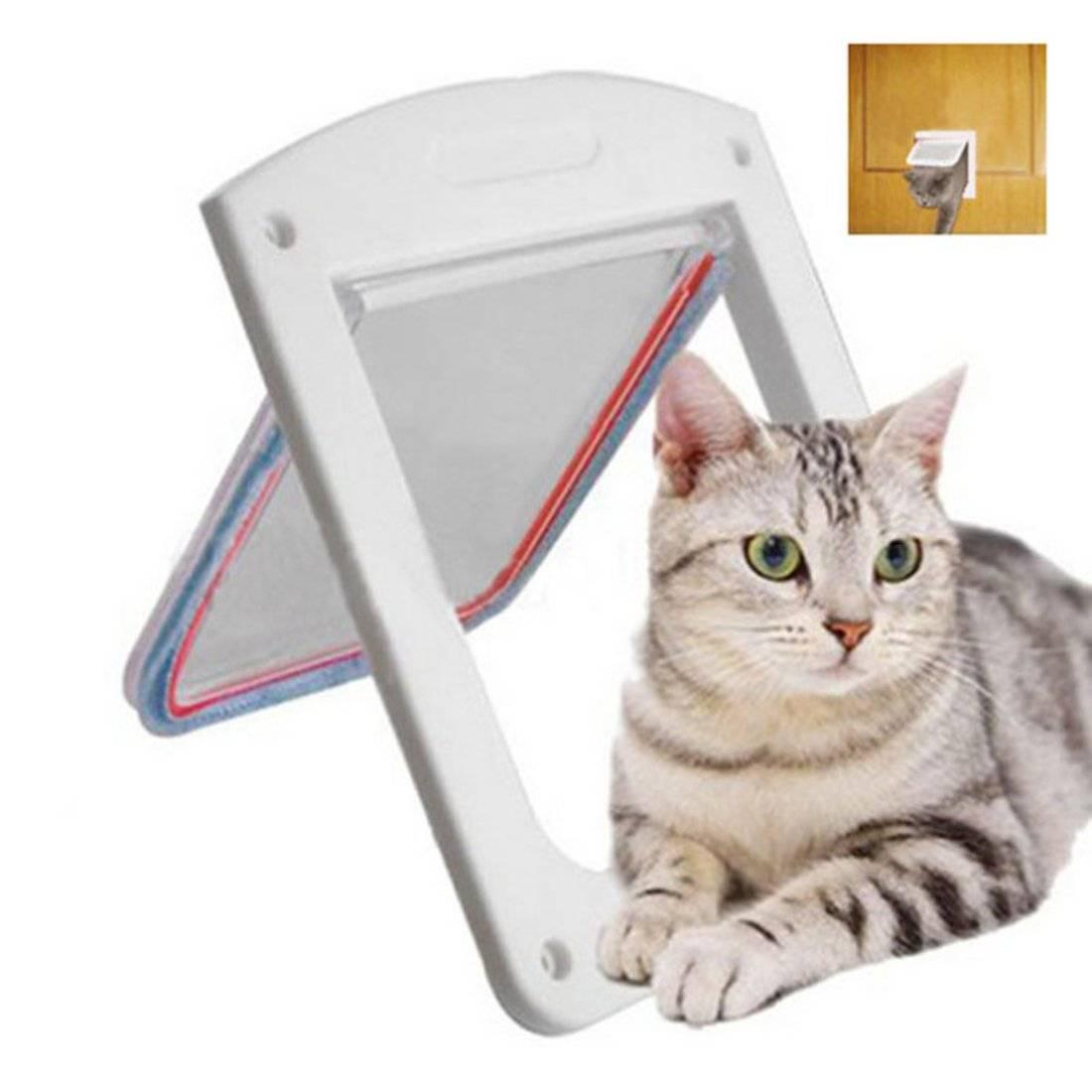 Дверца для кошки: лаз и люк, окошко и другие виды двери для кота. как выбрать подходящий кошачий проход?