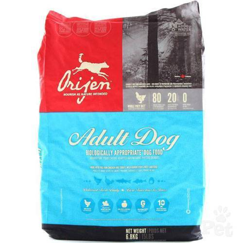 Корм orijen (ориджен) для собак