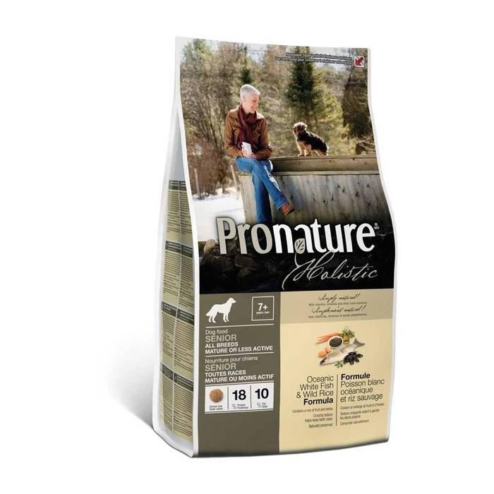 Сухой корм для собак «pronature» («пронатюр») — обзор и описание линейки, состав, виды, плюсы и минусы