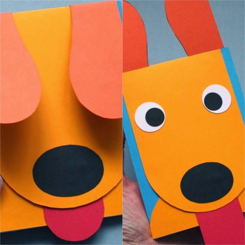 Собака из бумаги гармошкой поэтапно