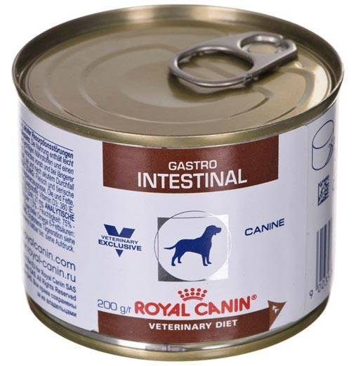 Обзор состава консерв и сухих кормов royal canin gastro intestinal для собаки