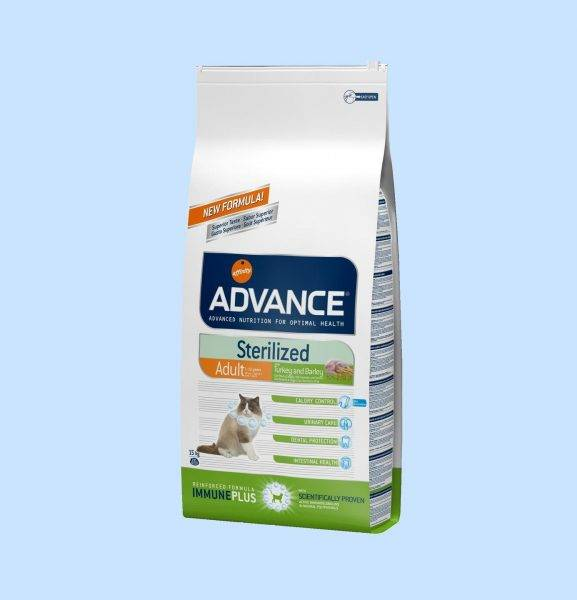 Корм для кошек affinity advance adult cat sterilized with turkey and barley