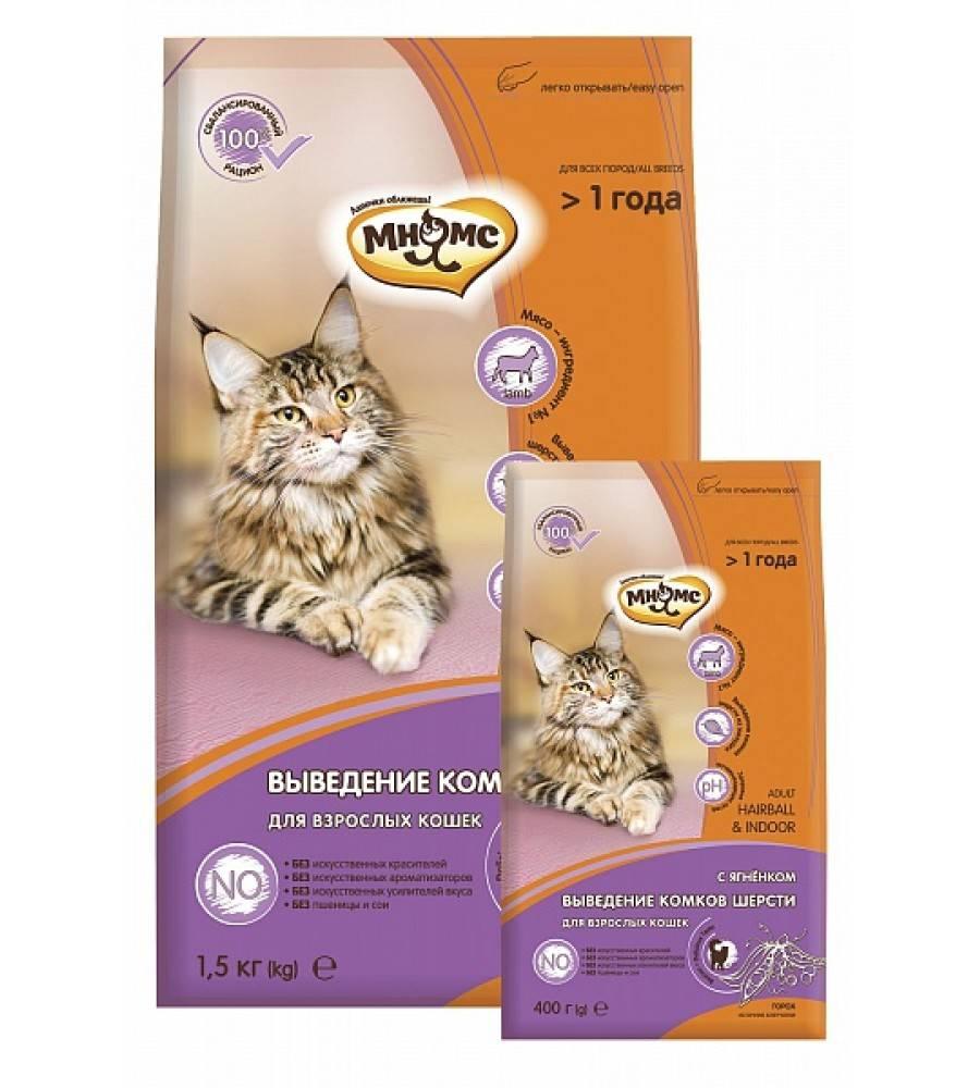 Корма и пасты для кошек и котов для выведения шерсти