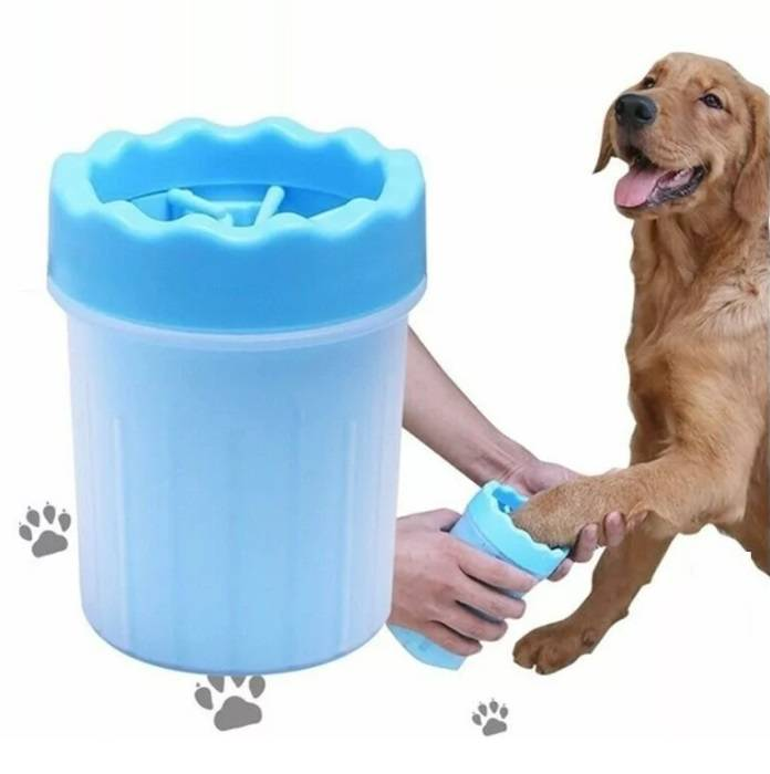 Как выбрать лапомойку для собак и сделать своими руками