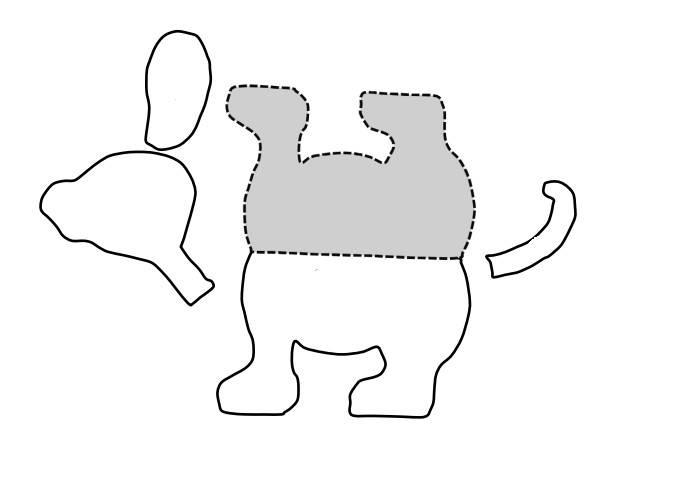 Аппликации с собаками: шаблон, из цветной бумаги, своими руками
