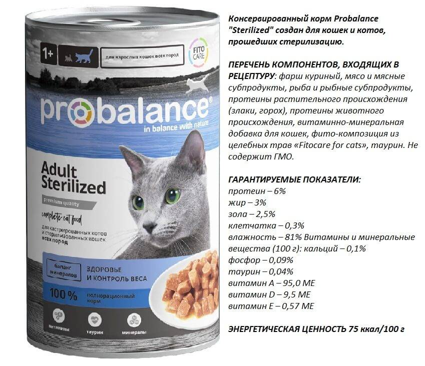 Корм probalance для кошек