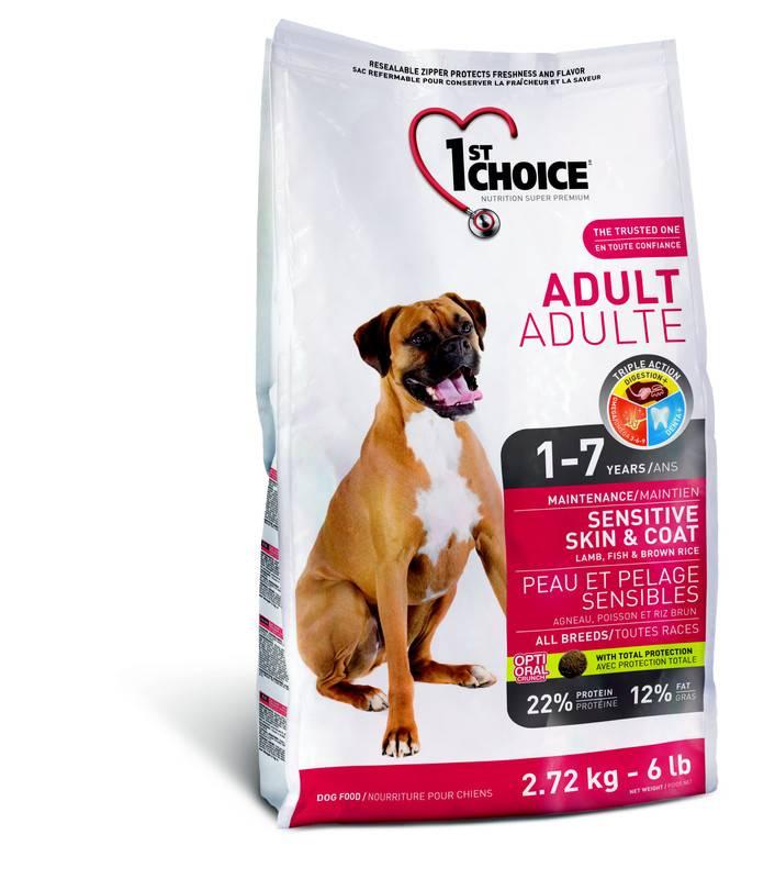 Корма для собак 1 st choice (фёст чойс): ассортимент, состав, гарантированные показатели производителя, плюсы и минусы кормов, выводы
