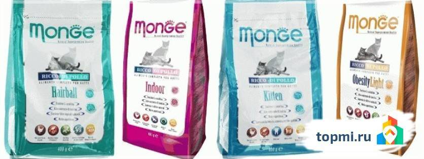 Корм для кошек monge (монже): плюсы и минусы, отзывы ветеринаров