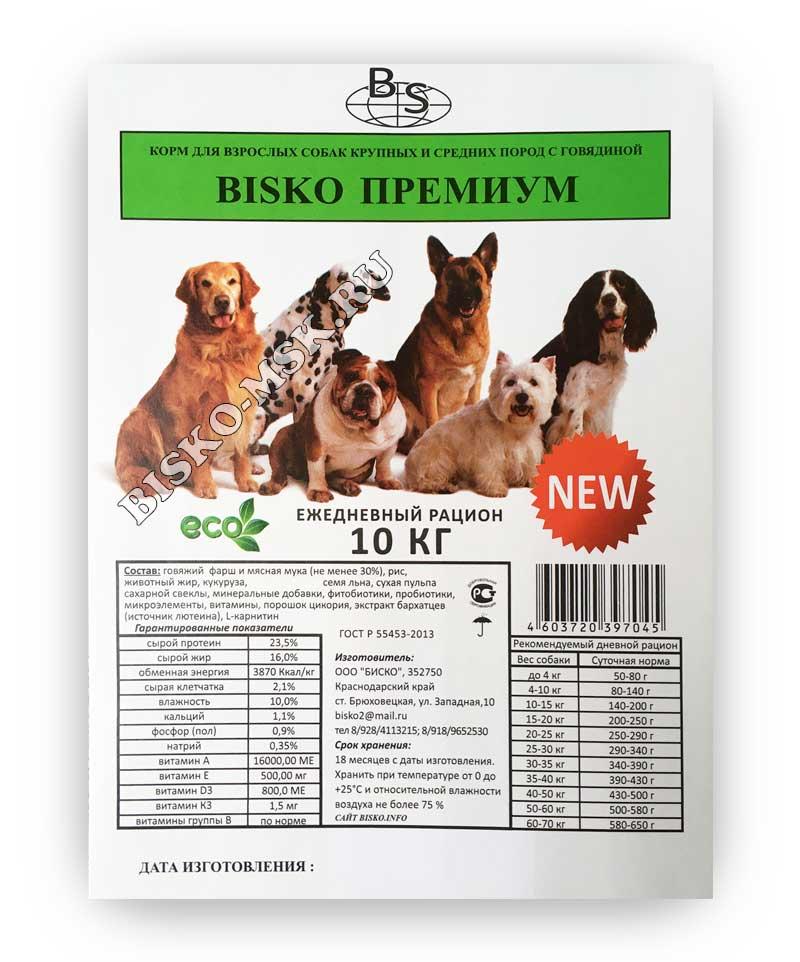 Корм для собак «биско»: отзывы, обзор, состав, производитель