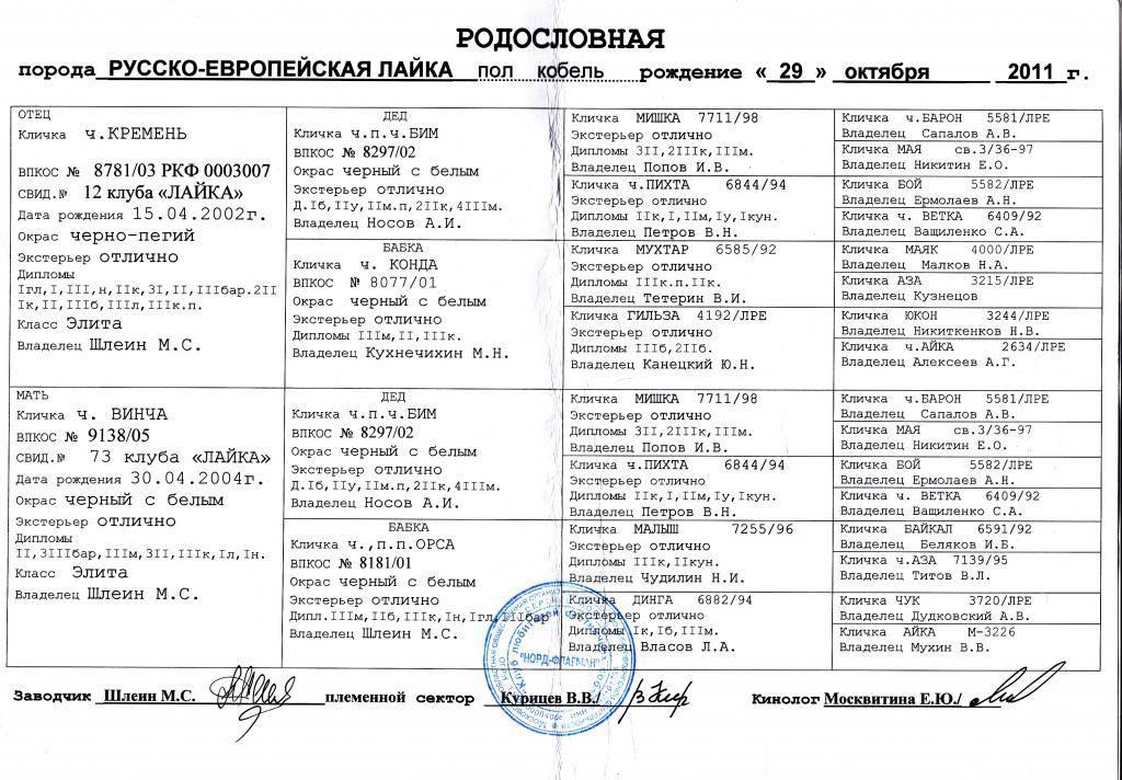 Клички западно сибирских лаек