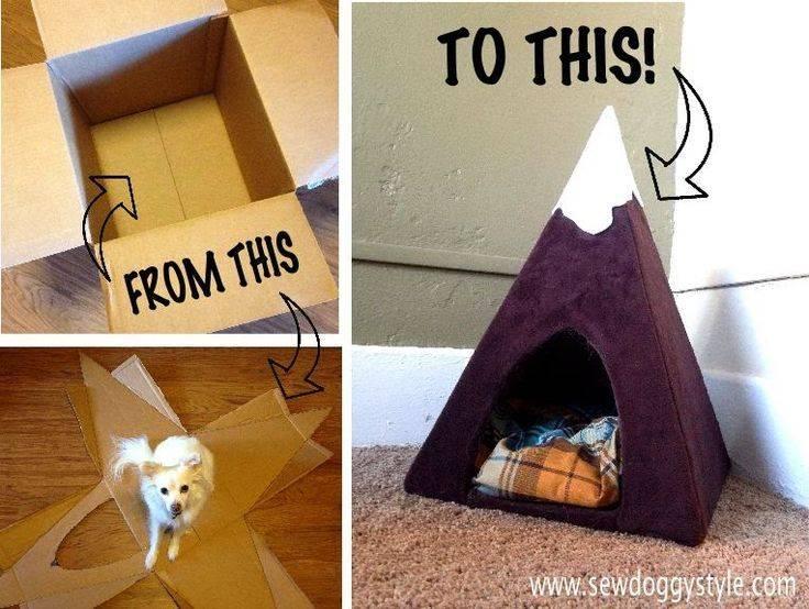 Как сделать домик для кошки из подручных материалов
