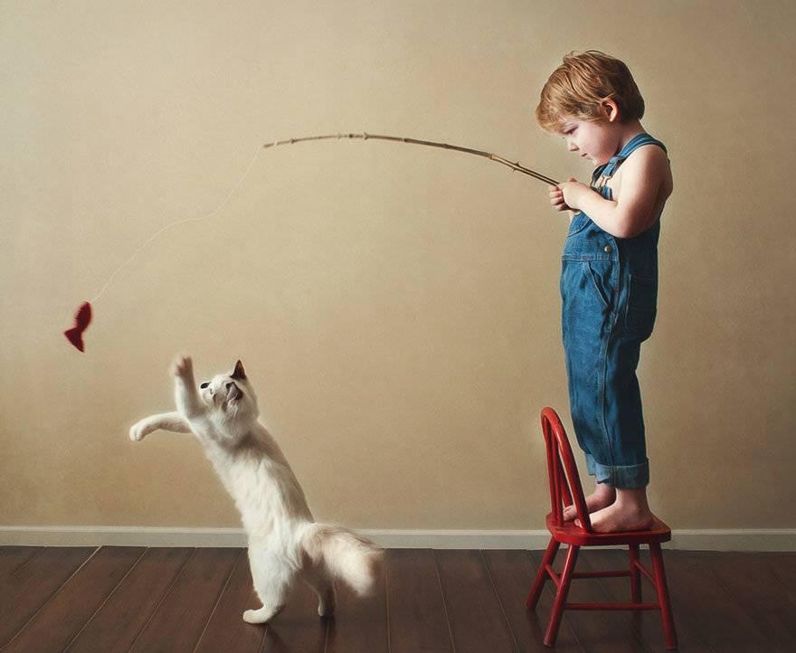 В какие игры можно поиграть с кошкой?