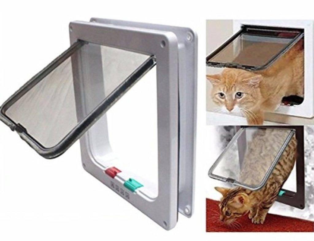 Дверца для кошек: как сделать своими руками | купить, как сделать в двери