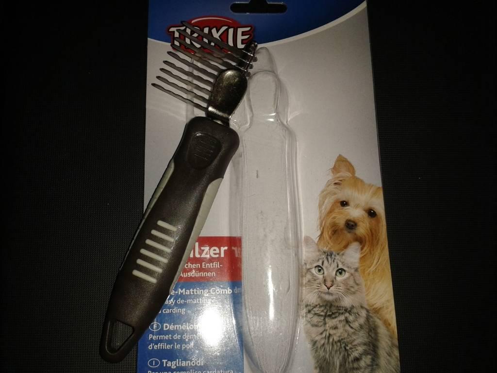 Колтунорез для кошек, фото, виды кошачьих колтунорезов, использование колтунореза
