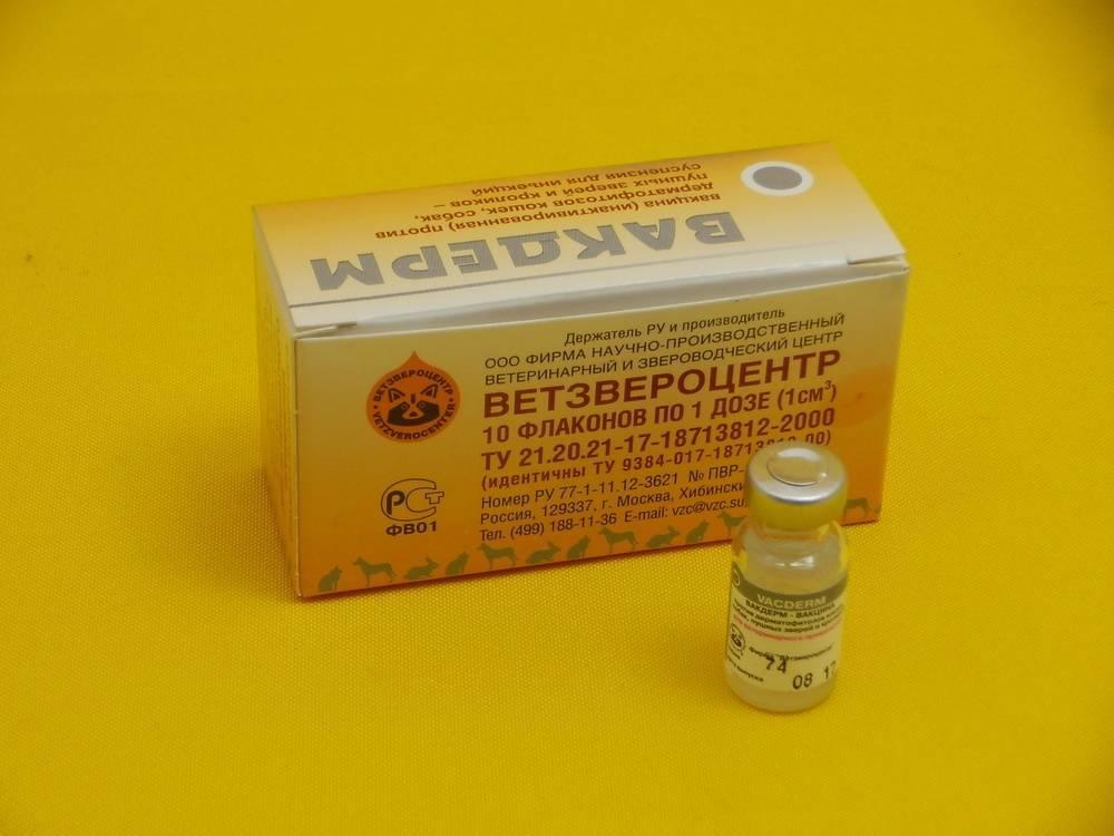 Вакдерм вакцина для собак и кошек от лишая и вакцина вакдерм-f для кошек