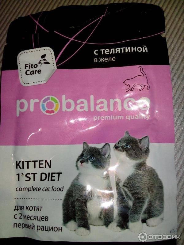 Корм для кошек пробаланс: отзывы и обзор состава |
