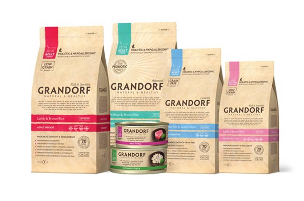 Основные линейки и состав корма для кошек «грандорф»