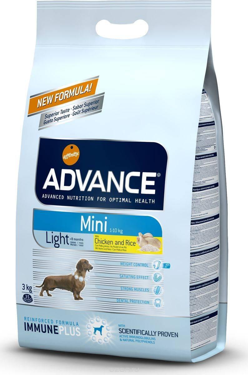 Особенности применения и виды корма для собак торговой марки advance