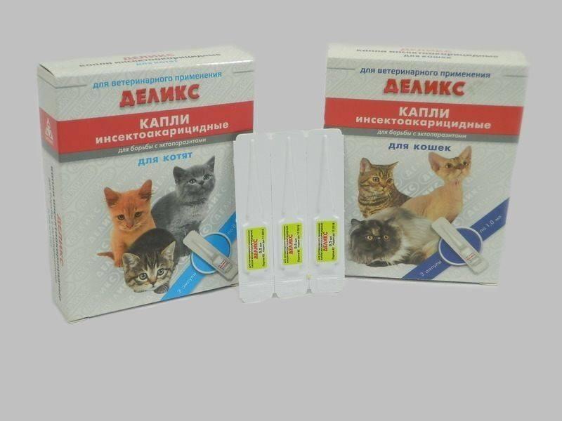 Деликс капли для кошек и собак - инструкция по применению и отзывы