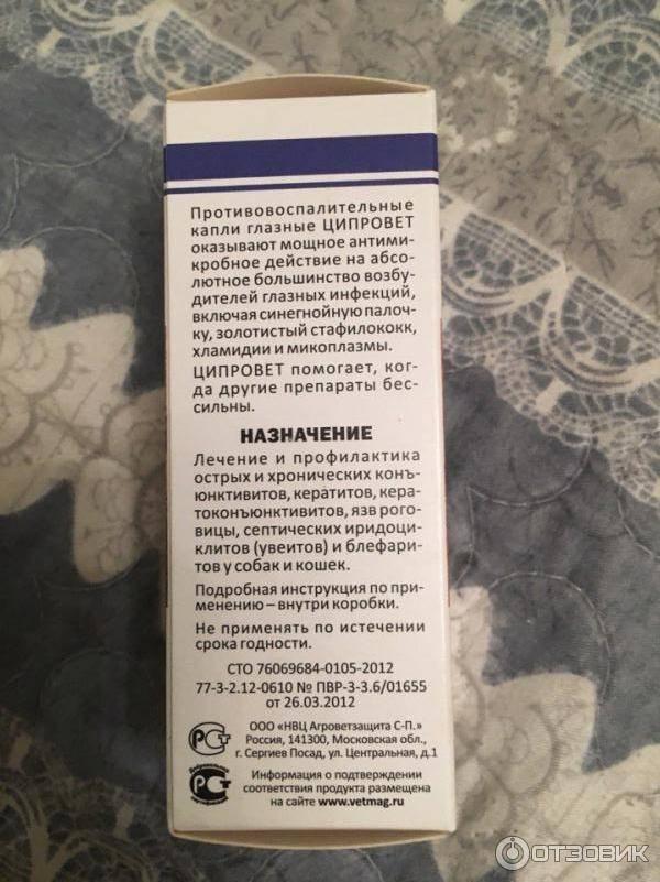 Ципровет для инъекций, антибактериальный препарат