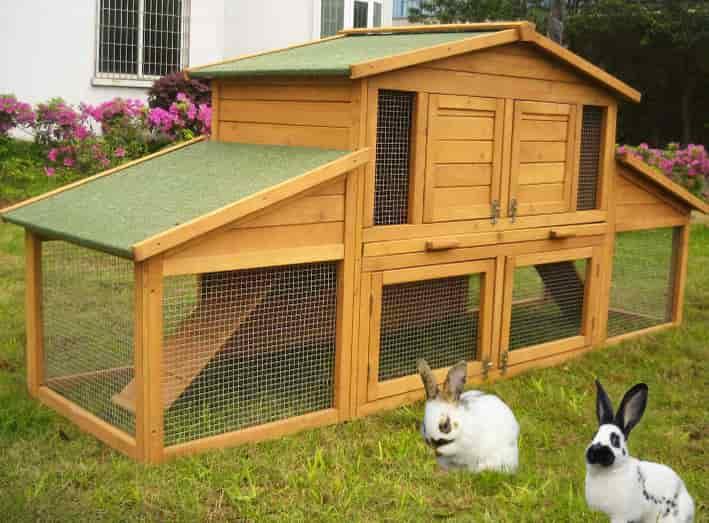 Как сделать домик для кролика своими руками