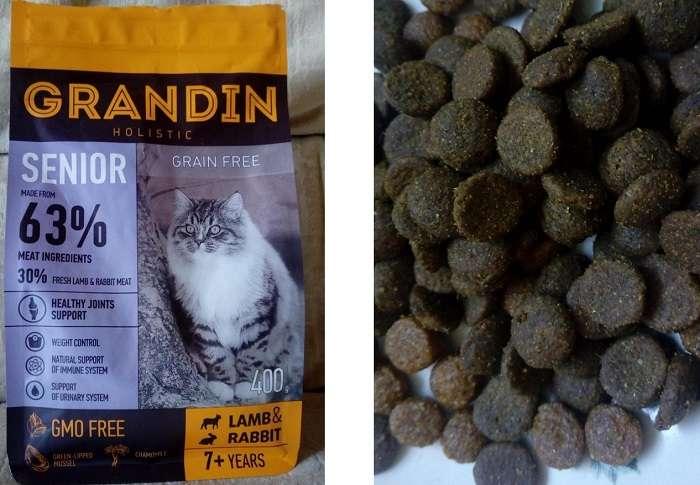 Корм для кошек «Грандин» (Grandin): состав