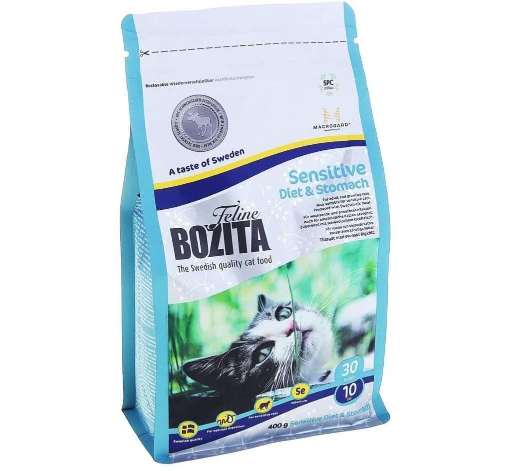 Бозита: корм для кошек и котят любых пород