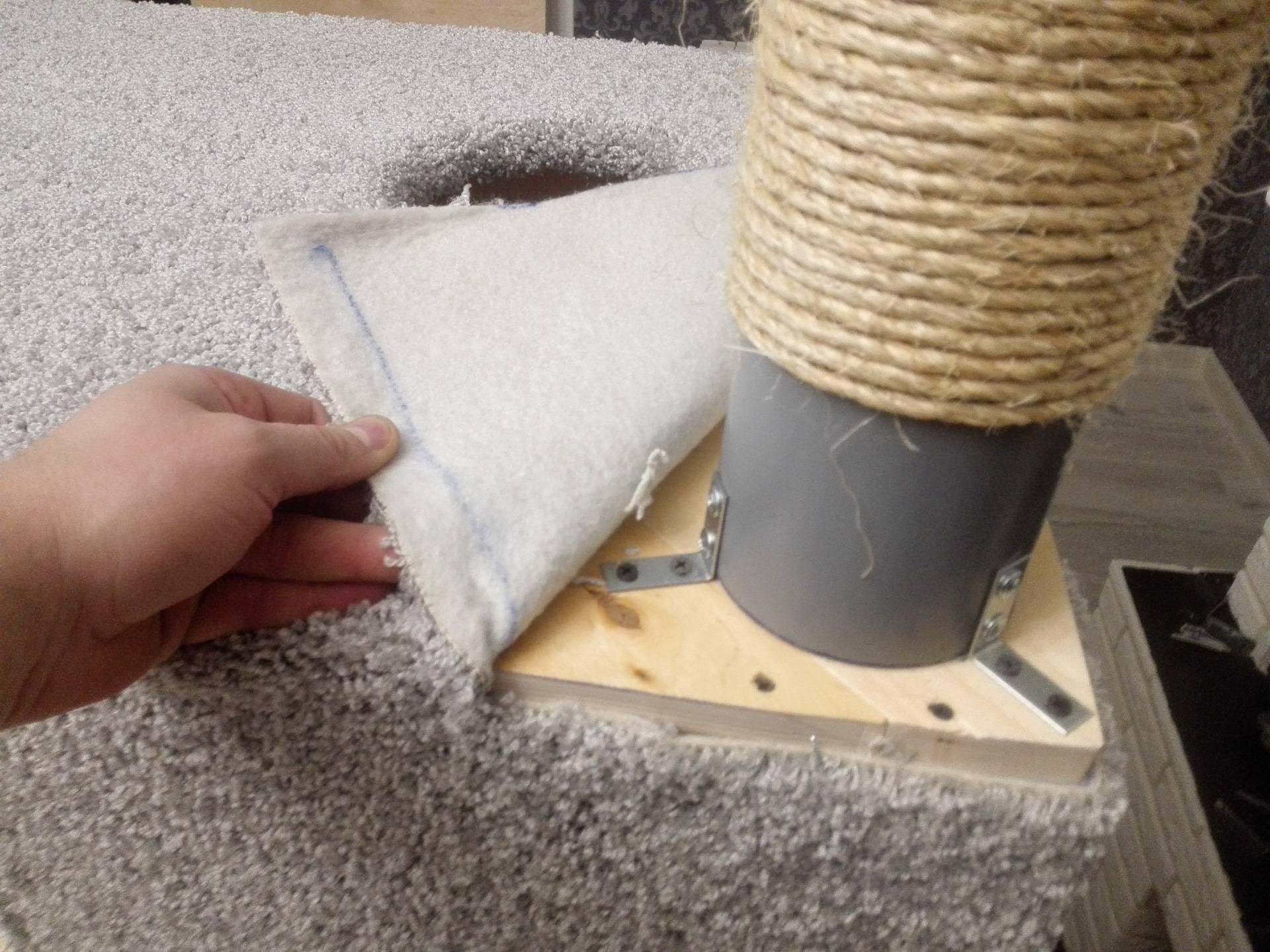 Когтеточка своими руками: схема, размеры и пошаговая инструкция изготовления в домашних условиях