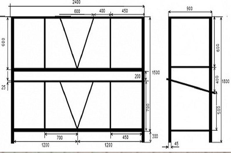 Как сделать клетку для кроликов своими руками: для декоративных, двухъярусную, из сетки, правильно и легко, чертеж
