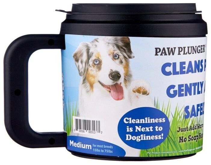 Приспособление для мытья лап собакам после прогулки: разновидности