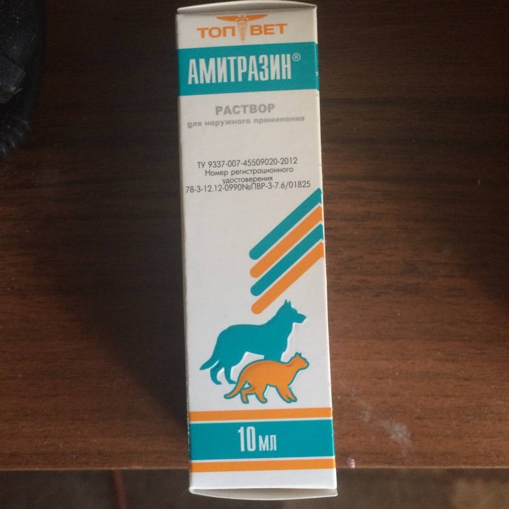 Амитразин для собак: инструкция, цена, отзывы