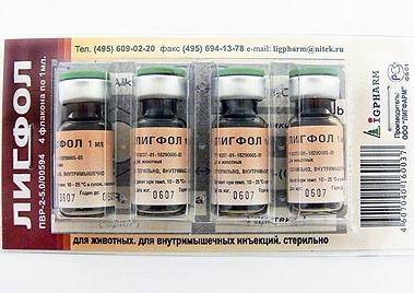 Лигфол для собак: состав препарата, применение, противопоказания, побочные эффекты, дозировка, аналоги