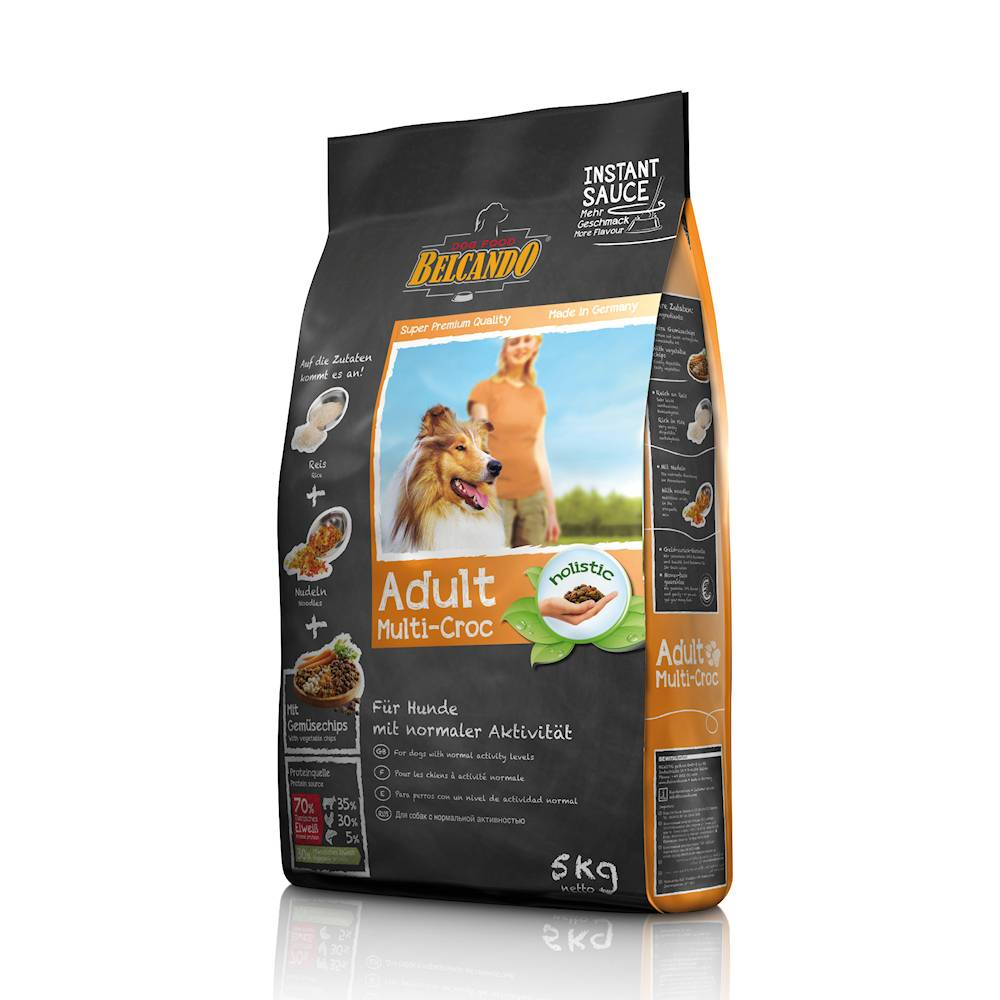 Состав, преимущества и недостатки, ассортимент кормов для собак «белькандо»