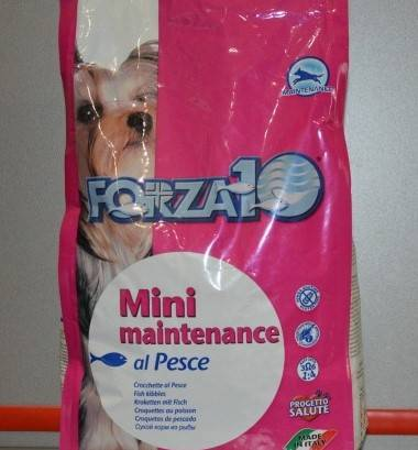 Корм для собак forza10 maintenance adult mini fish