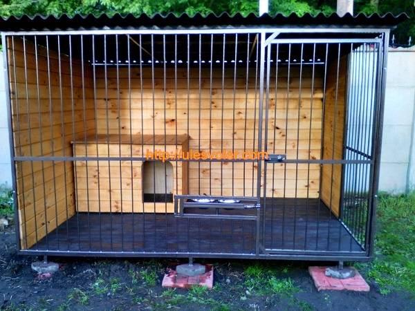 Вольер для собаки: фото видео чертежи, инструкции по изготовлению
