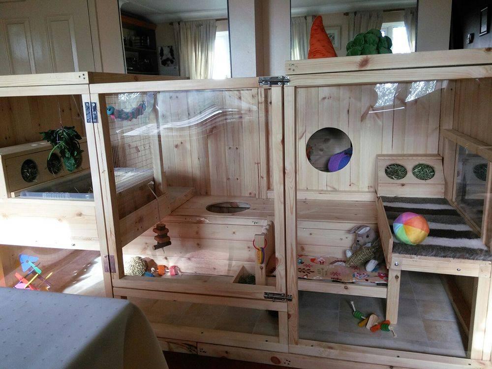Клетки для кроликов своими руками (52 фото): как правильно сделать их в домашних условиях? размеры, чертежи и пошаговая инструкция для построения кроличьих клеток