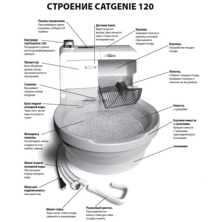 Автоматический туалет для кошек: описание работы, как выбрать