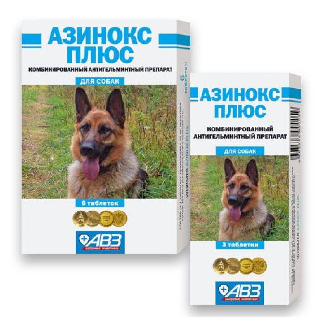 Азинокс плюс для дегельминтизации собак