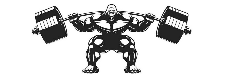 Какими могли быть жимовые и тяговые характеристики гориллы?