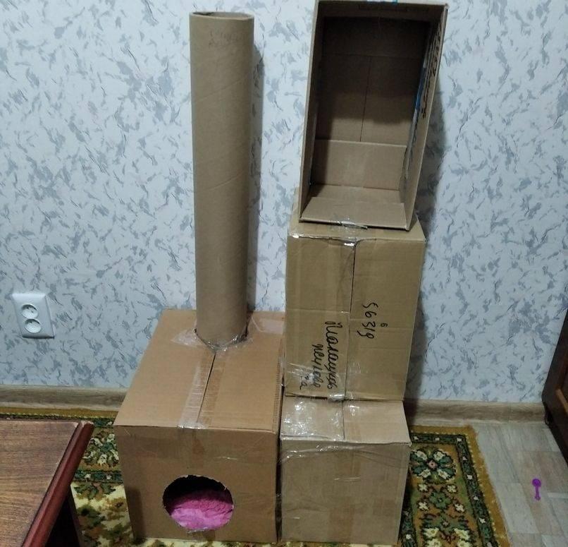 Хэнд-мейд: домики для кошек своими руками из коробок – оригинальные идеи, простые решения