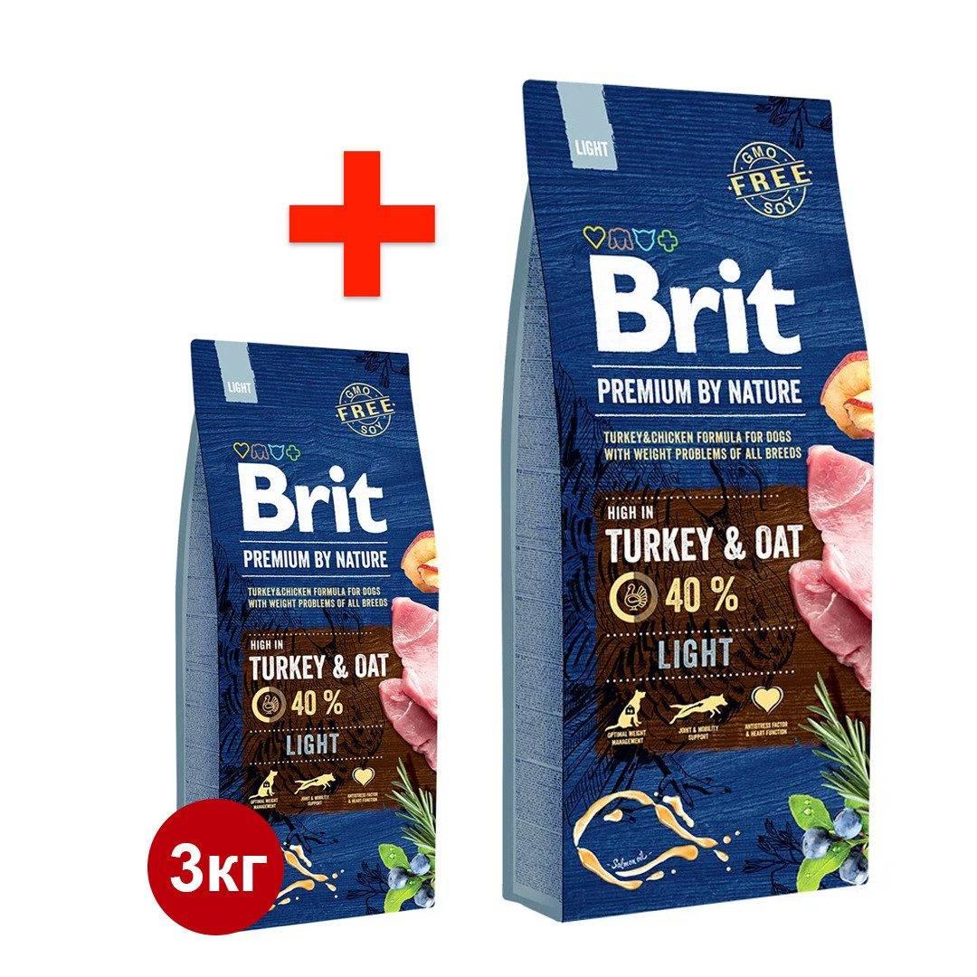 Корм для собак brit premium dog lamb & rice
